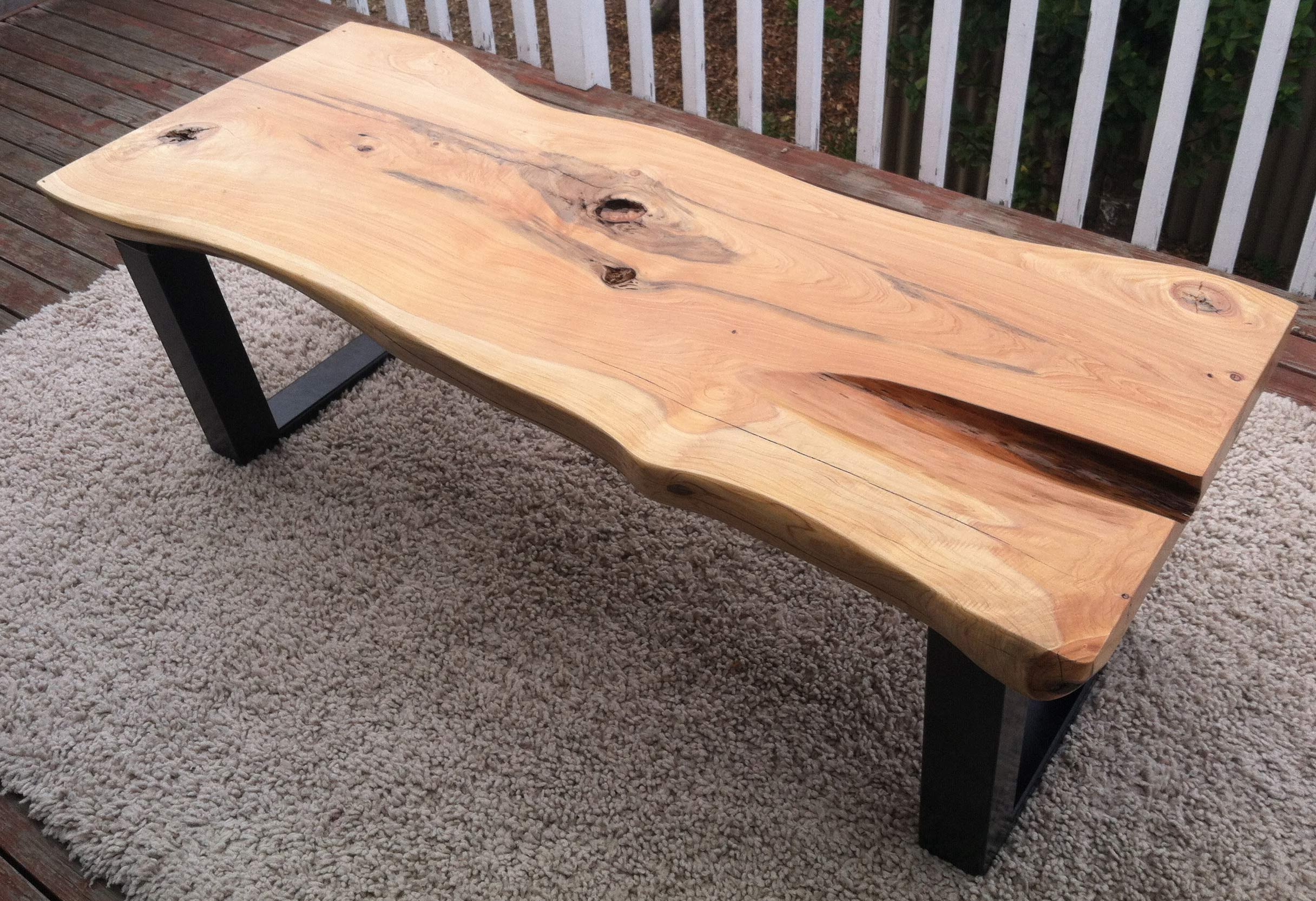 raw edge coffee table 12