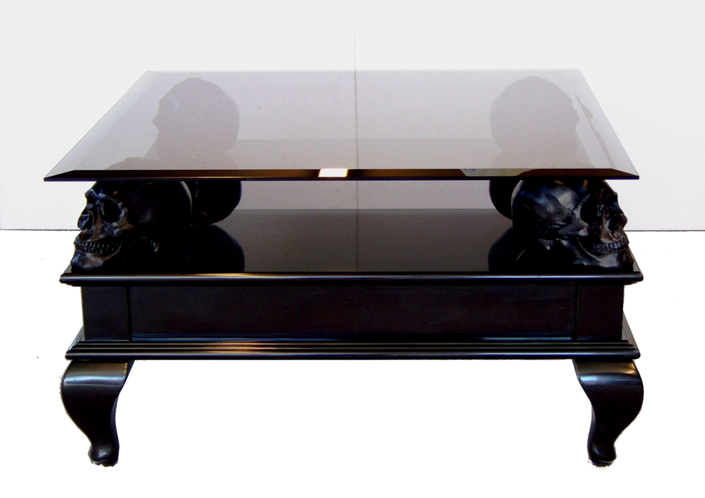 Skull coffee table furniture roy home design Bench coffee tables