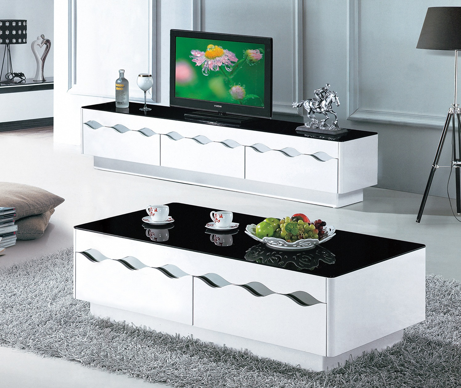 tv stand and coffee table set 02