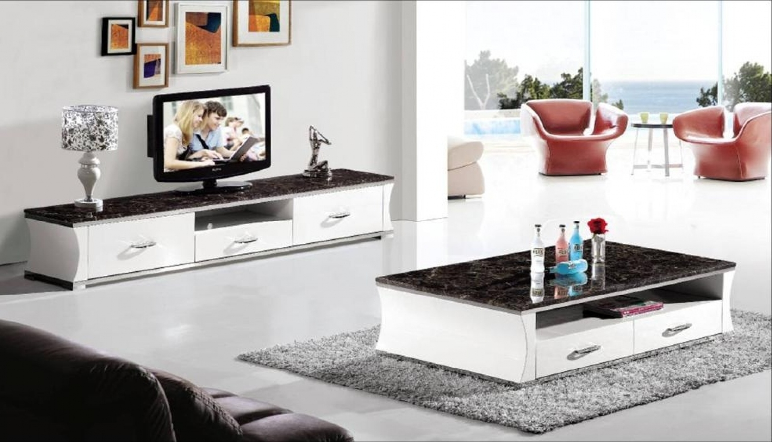 tv stand and coffee table set 21