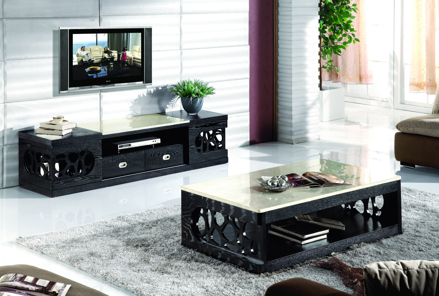 tv stand and coffee table set 27