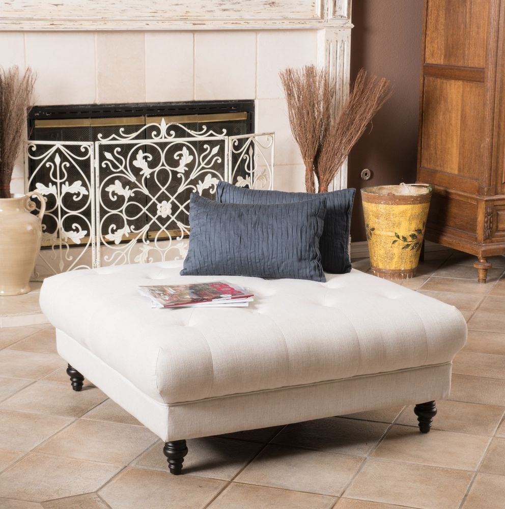white leather ottoman coffee table 10