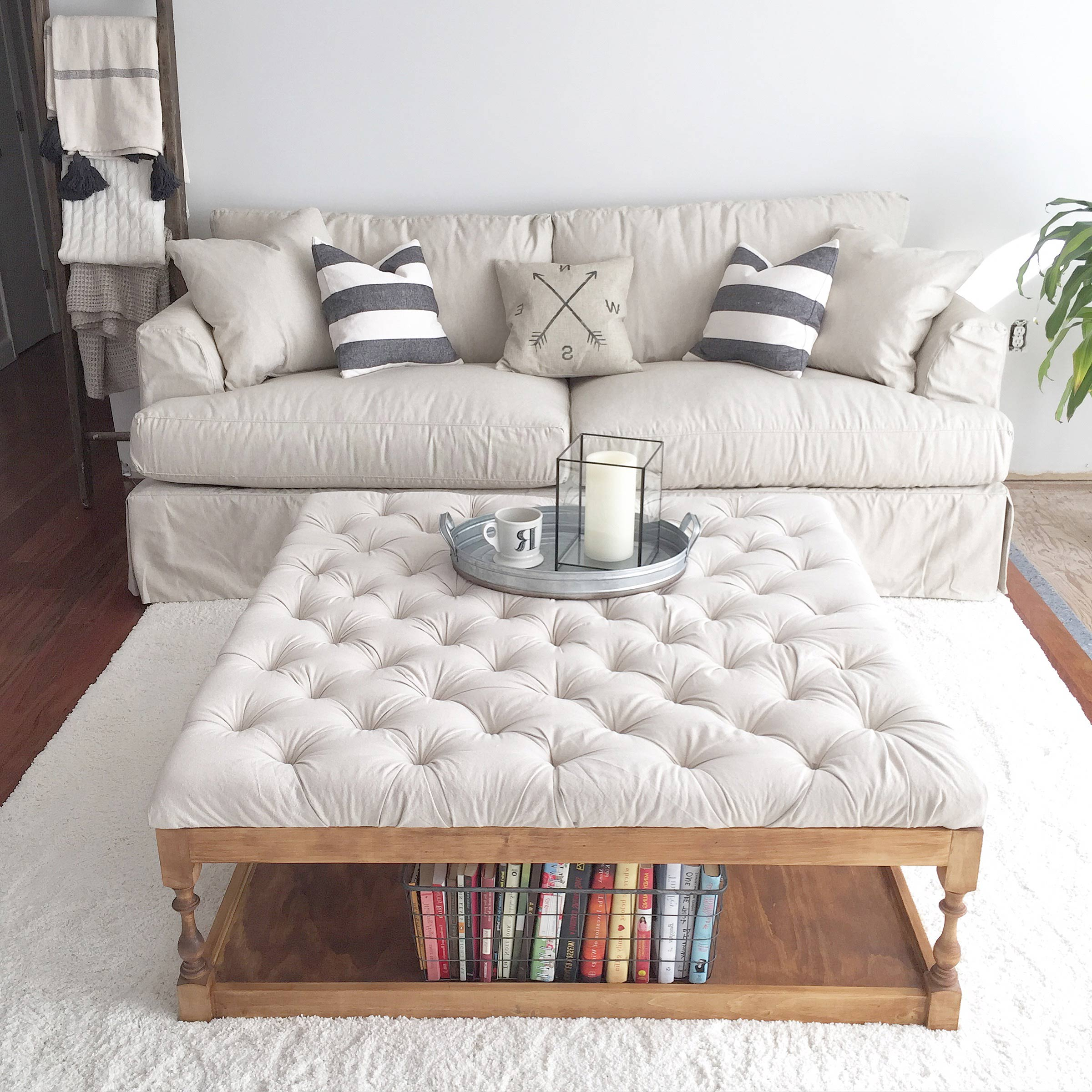 White Coffee Table Ottoman Best Home Design 2018