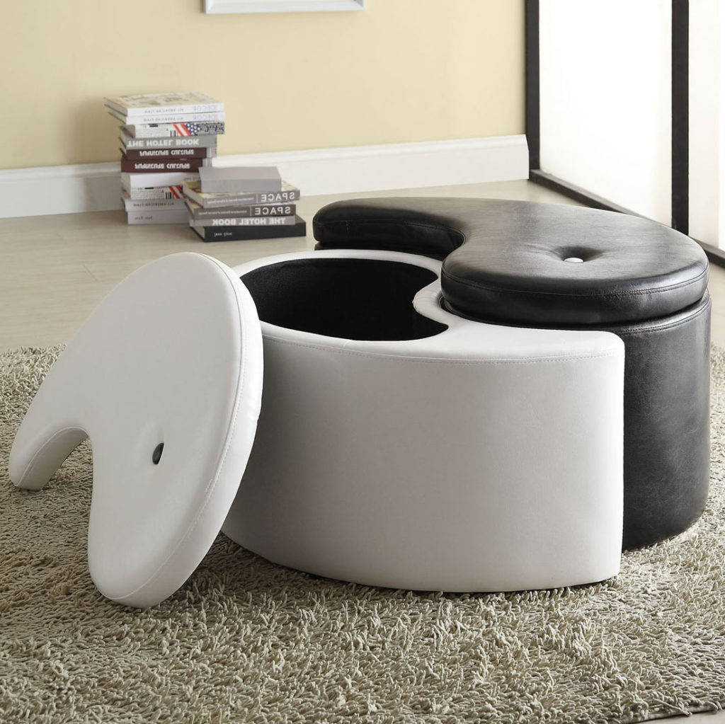 white leather ottoman coffee table 16