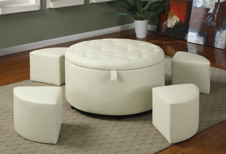white leather ottoman coffee table 17