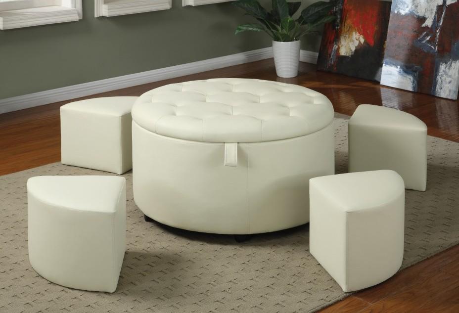 white leather ottoman coffee table 17