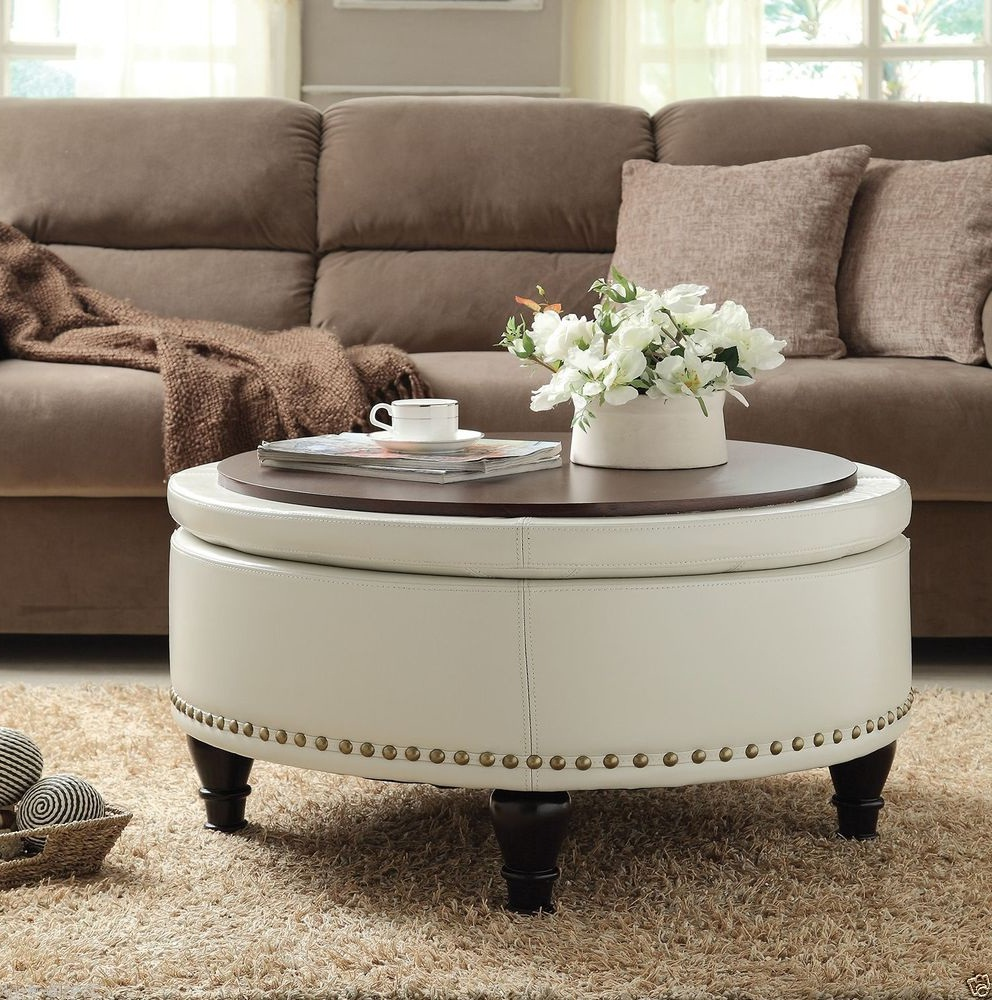 white leather ottoman coffee table 23