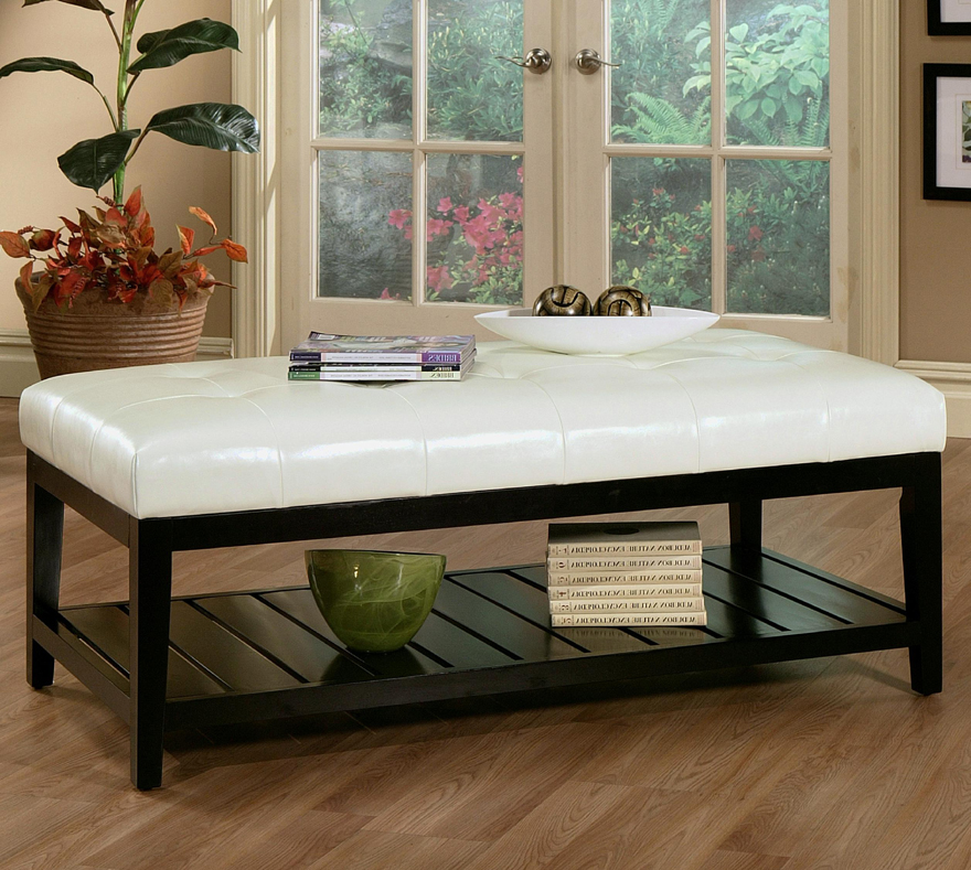 white leather ottoman coffee table 24