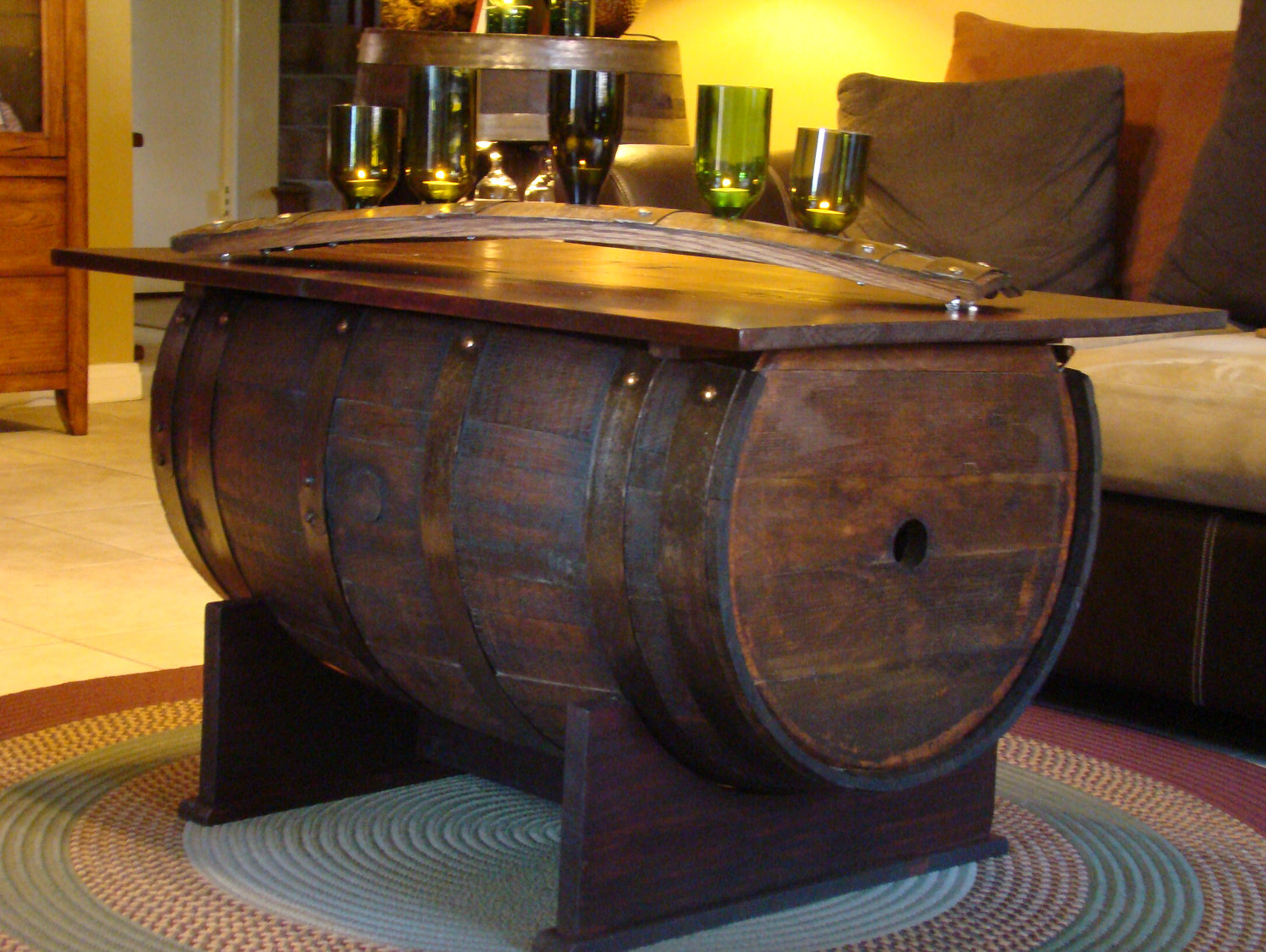 wooden barrel coffee table 06