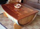 wooden barrel coffee table 13