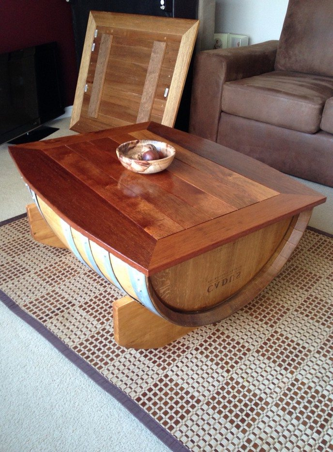 wooden barrel coffee table 13