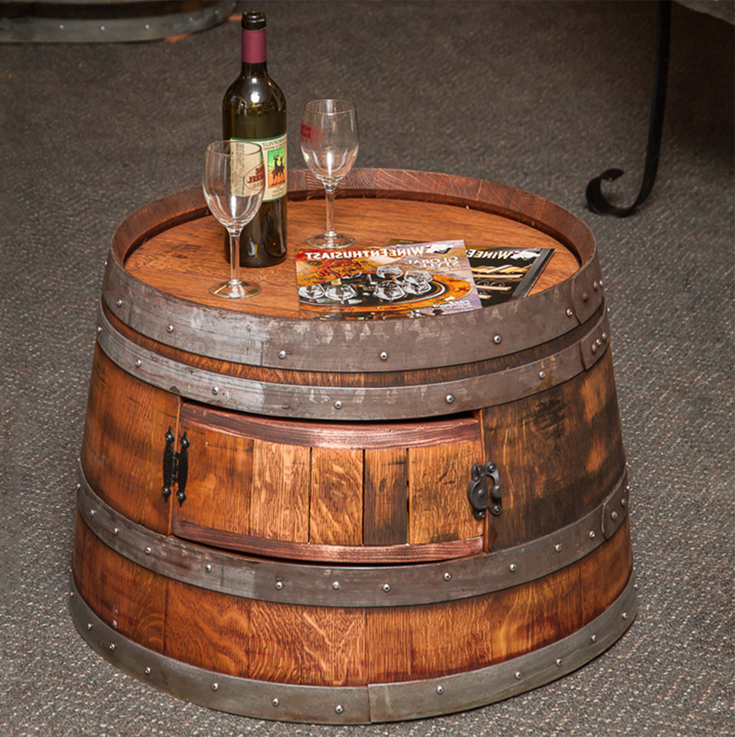 wooden barrel coffee table 15