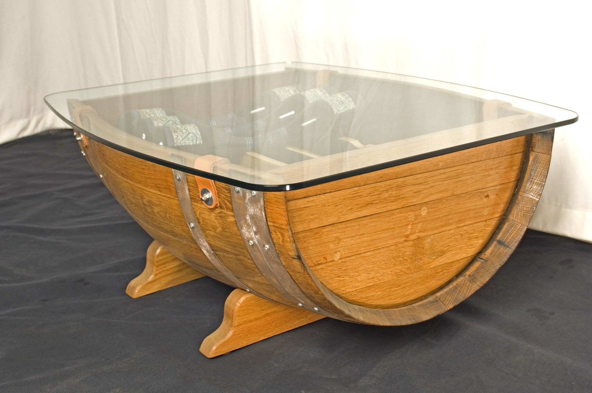 wooden barrel coffee table 17