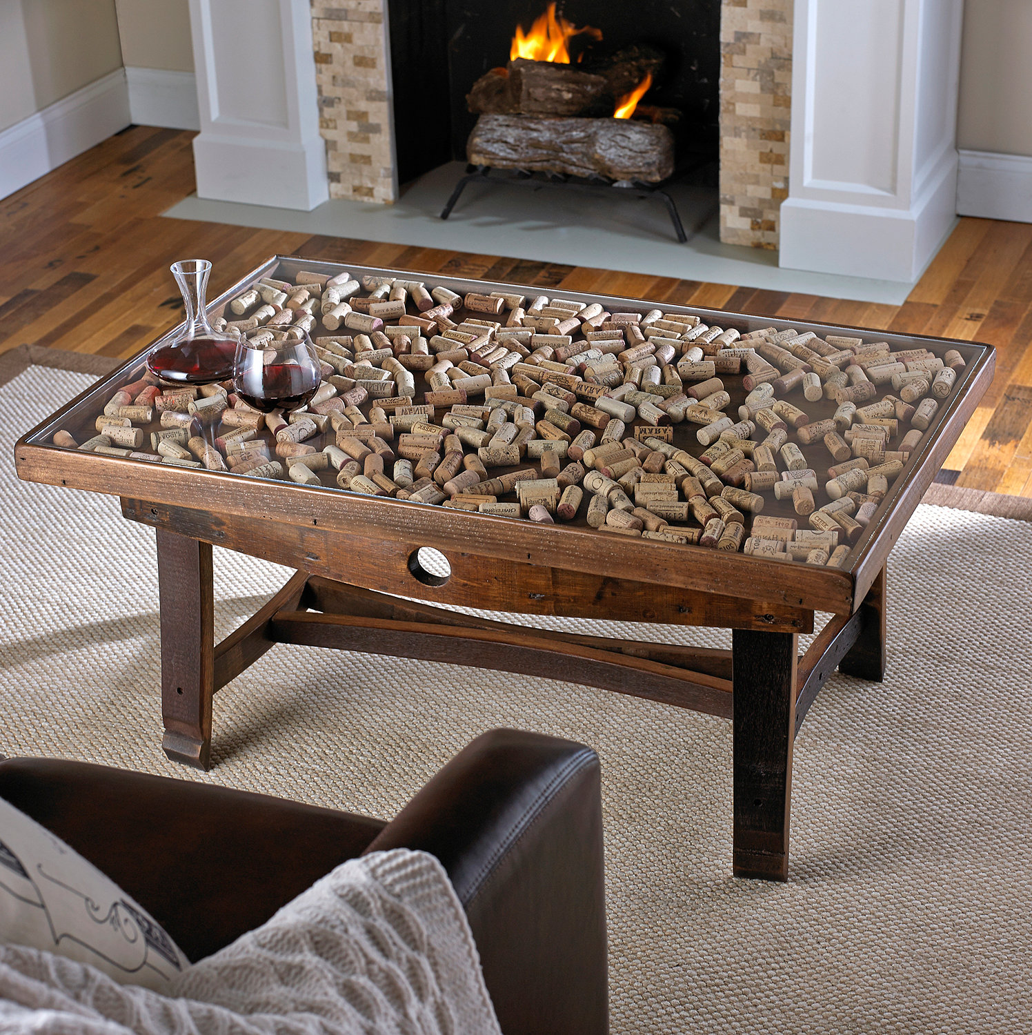 wooden barrel coffee table 18