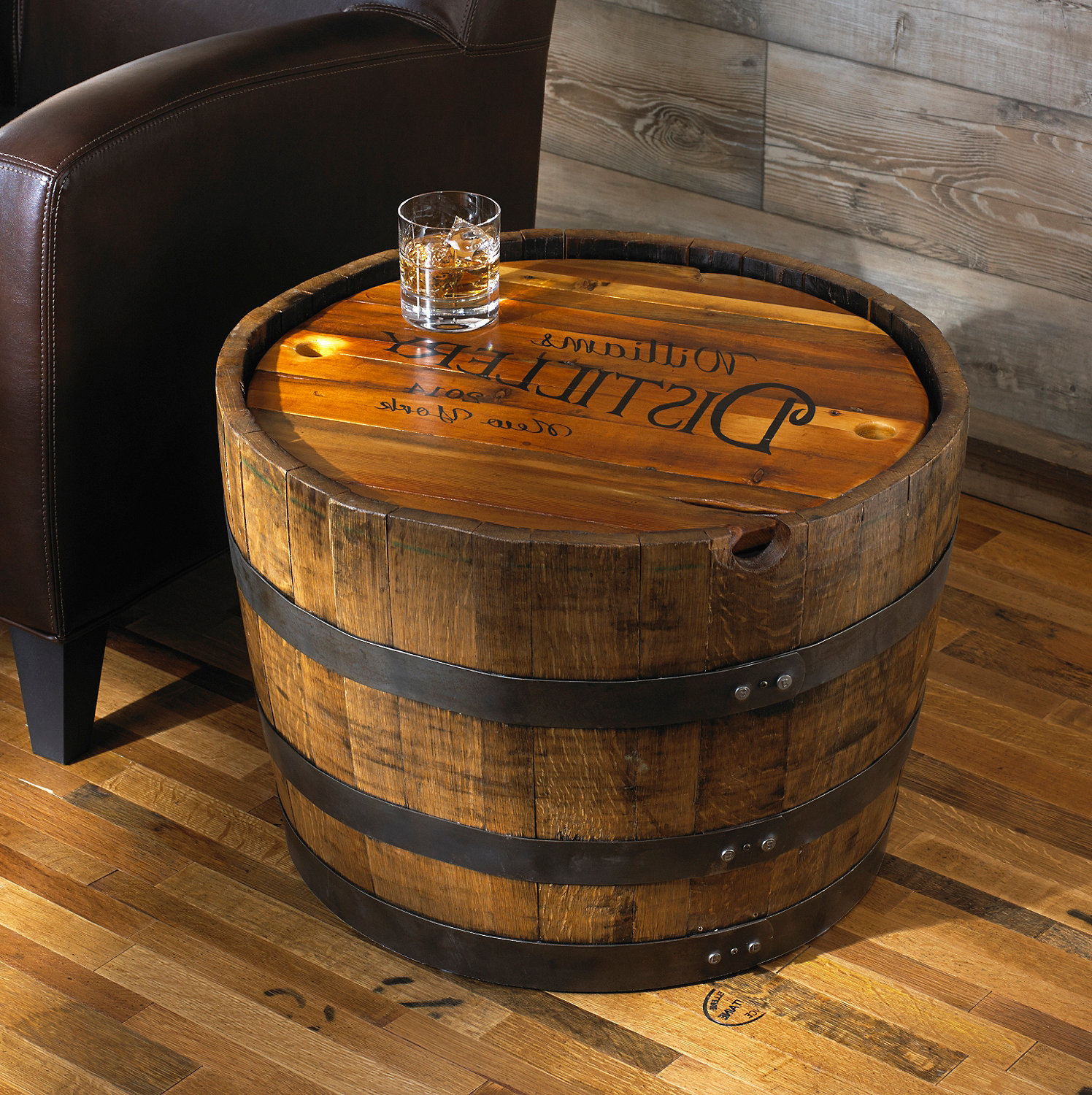 wooden barrel coffee table 19