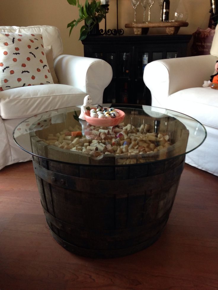 wooden barrel coffee table 20