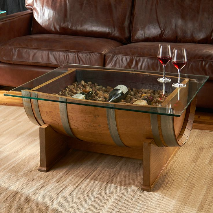 wooden barrel coffee table 25