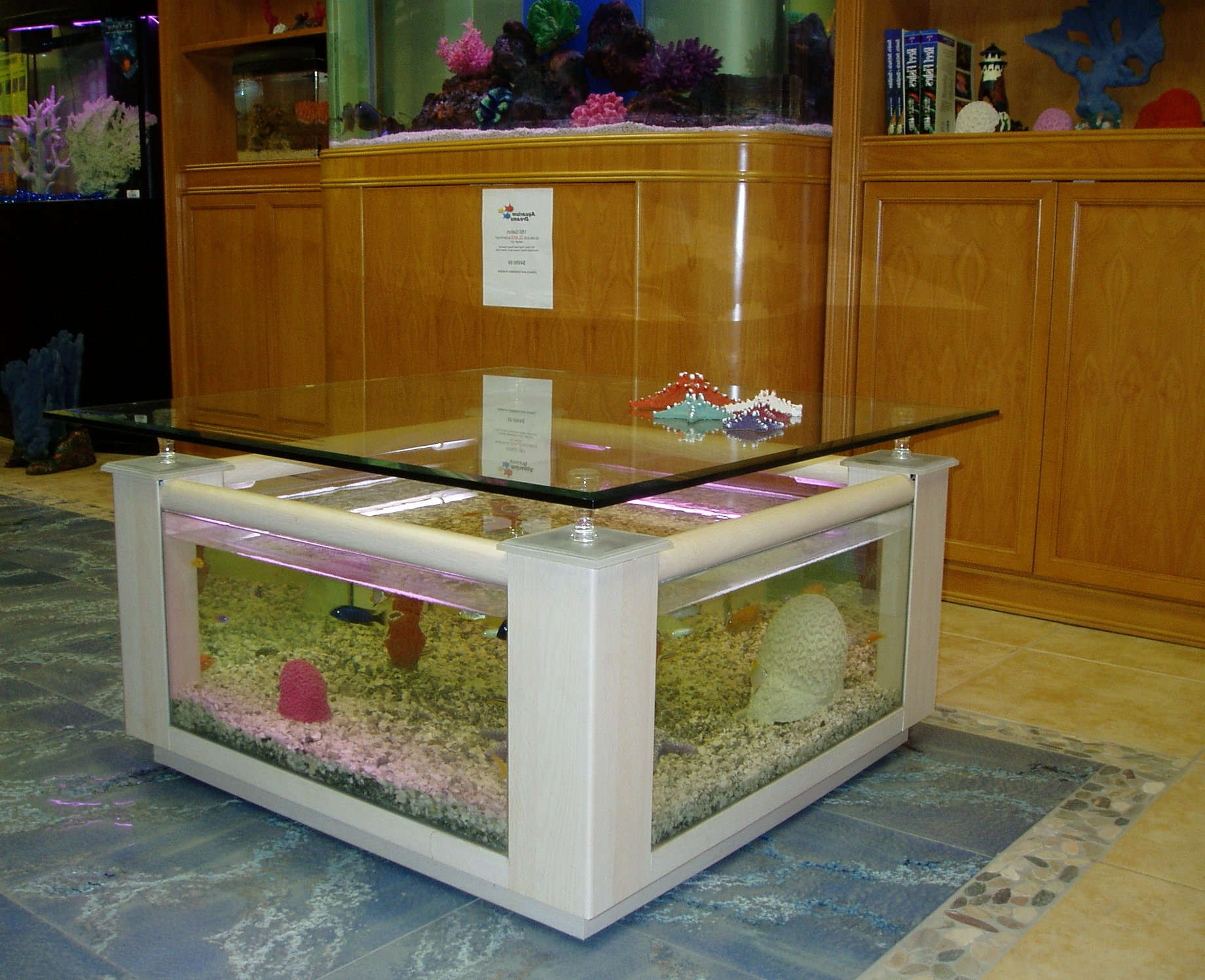 aquarium coffee table for sale 11