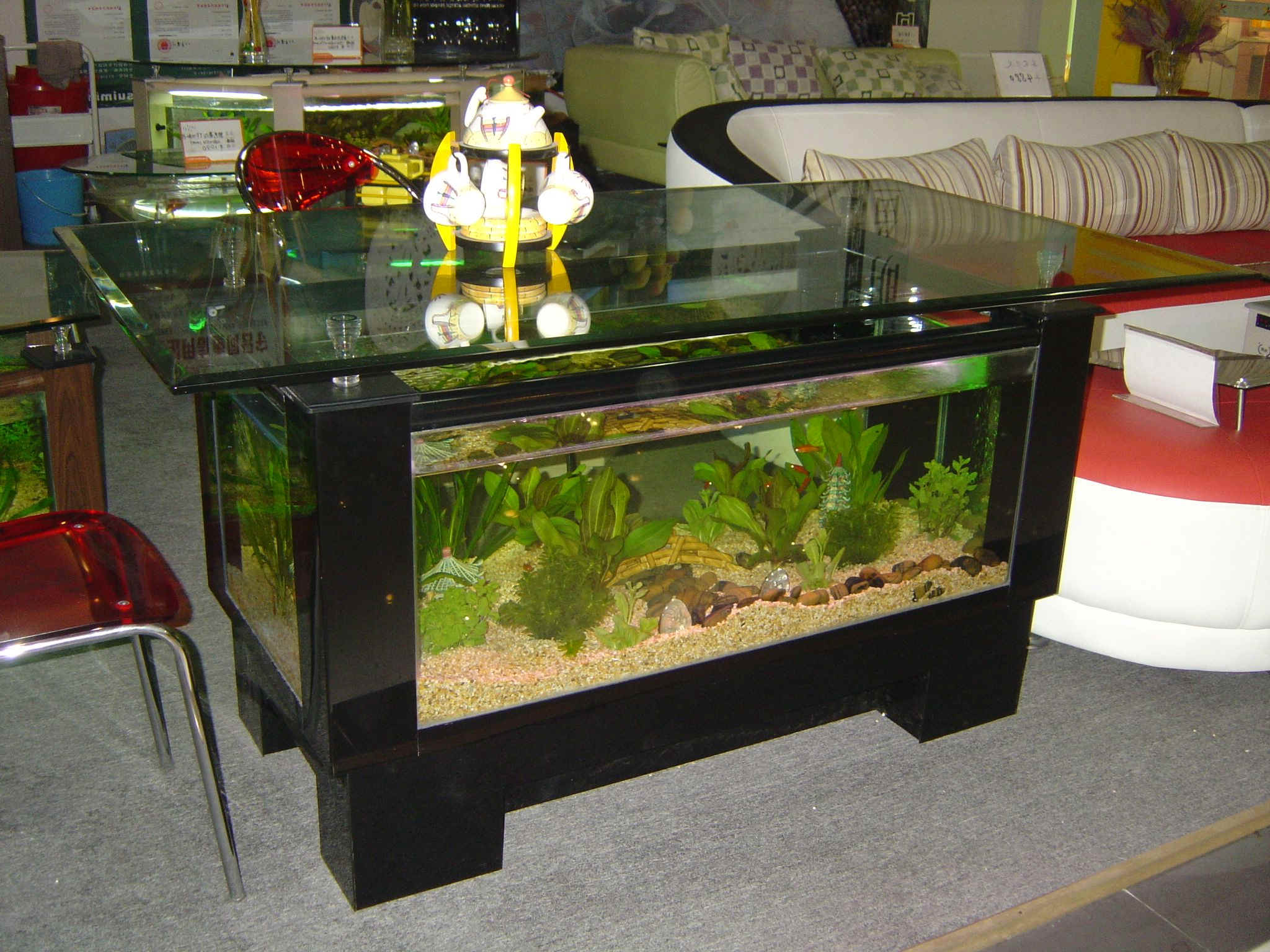 aquarium coffee table for sale 19