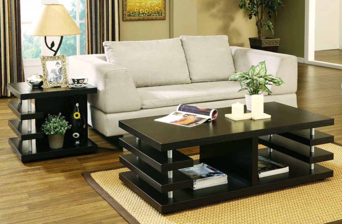 black coffee and end table sets 05