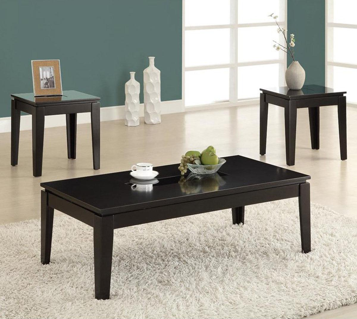 Coffee End Table Sets Sale: Black Coffee And End Table Sets Furniture
