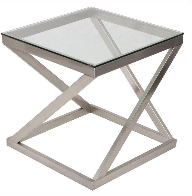 brushed nickel coffee table 11