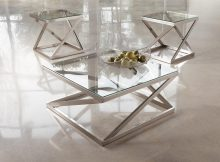 brushed nickel coffee table 14