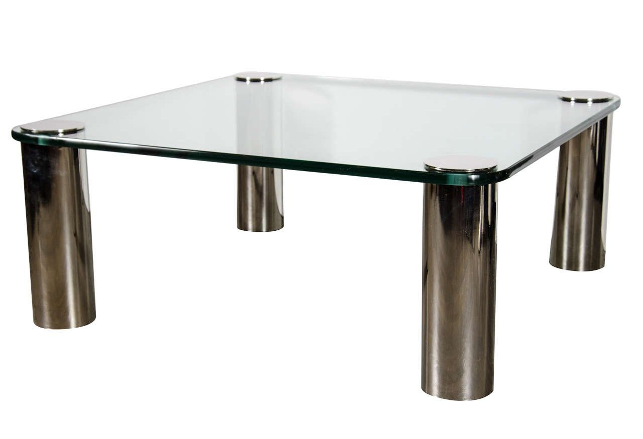 brushed nickel coffee table 15