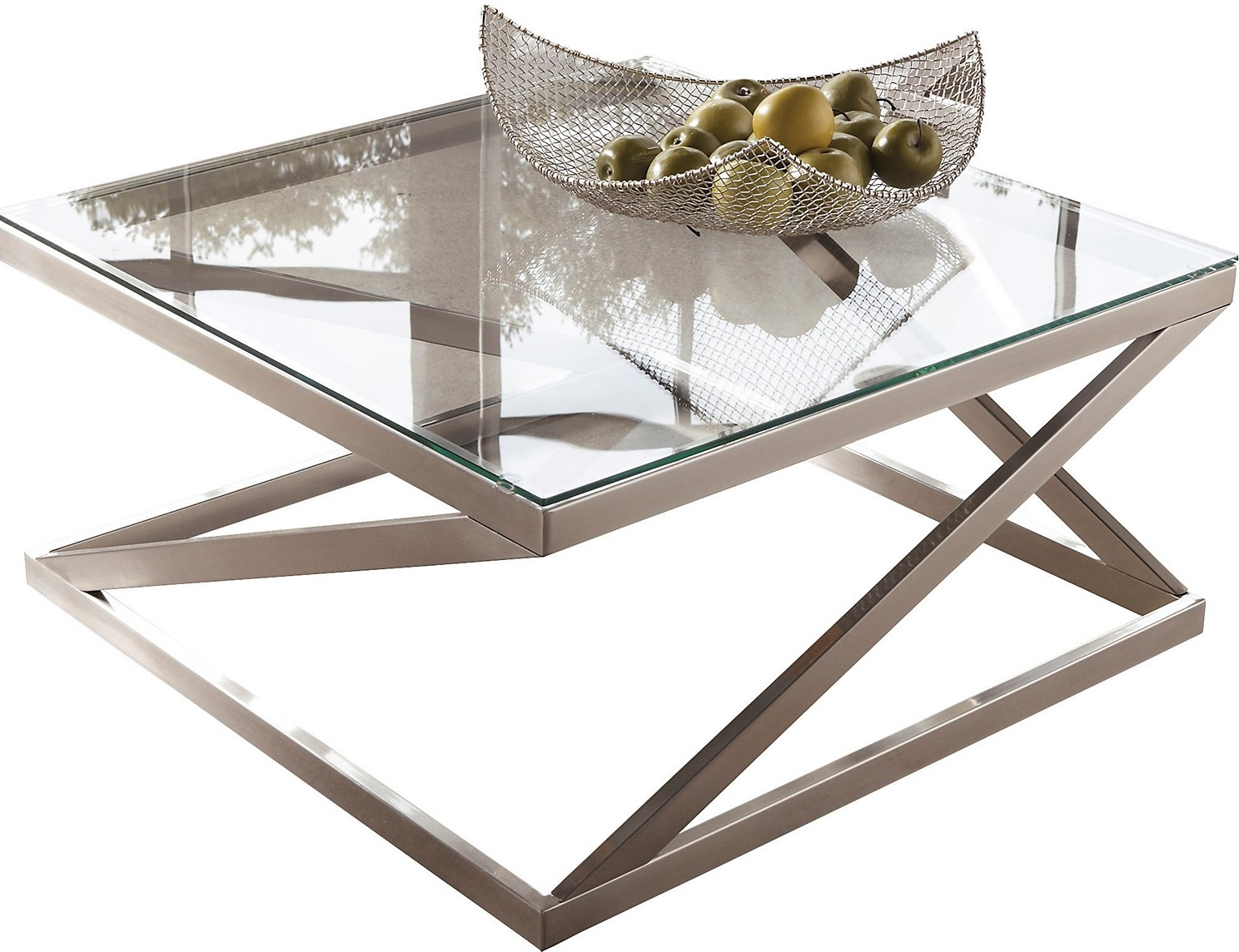 brushed nickel coffee table 20