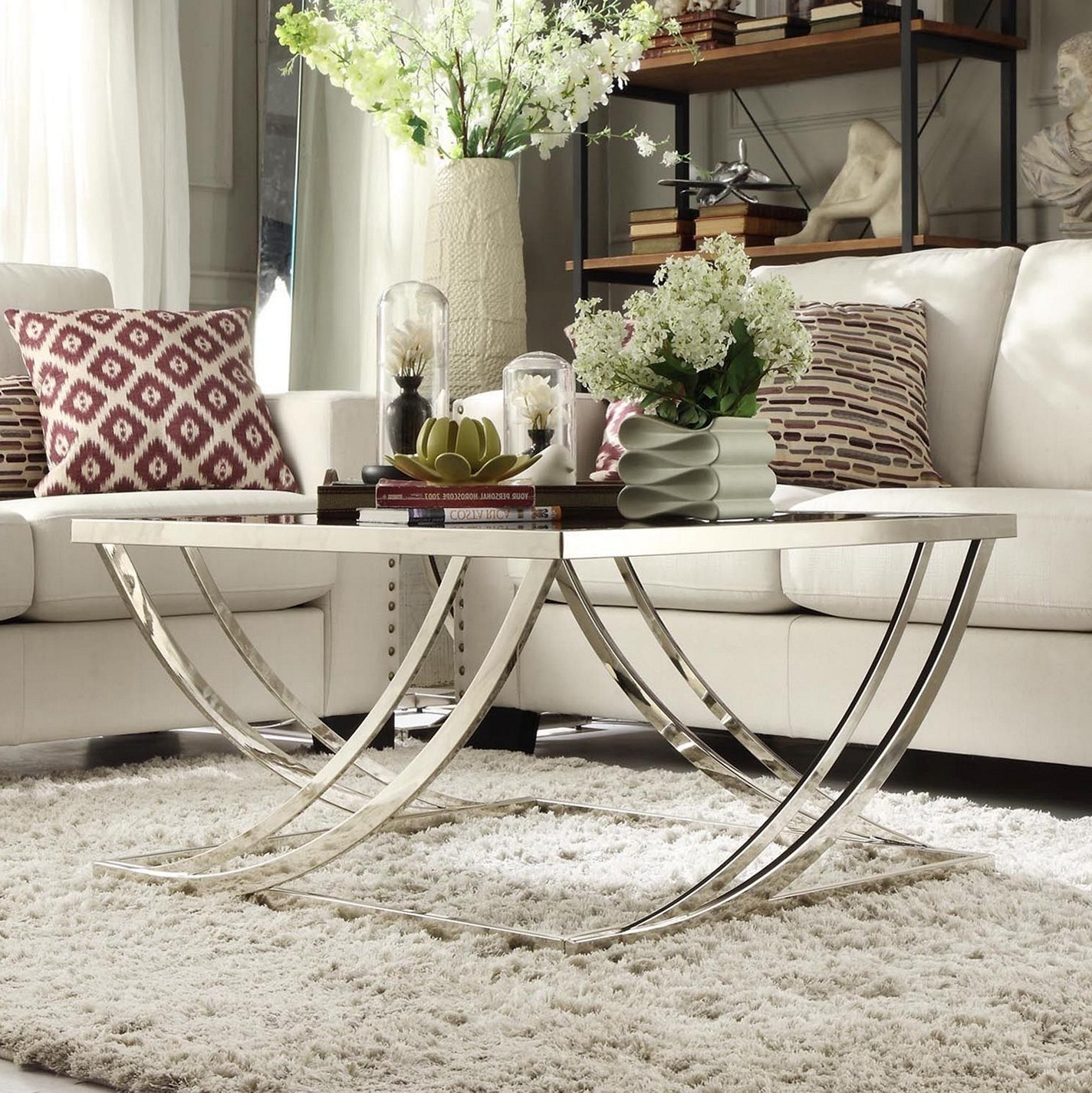 brushed nickel coffee table 22