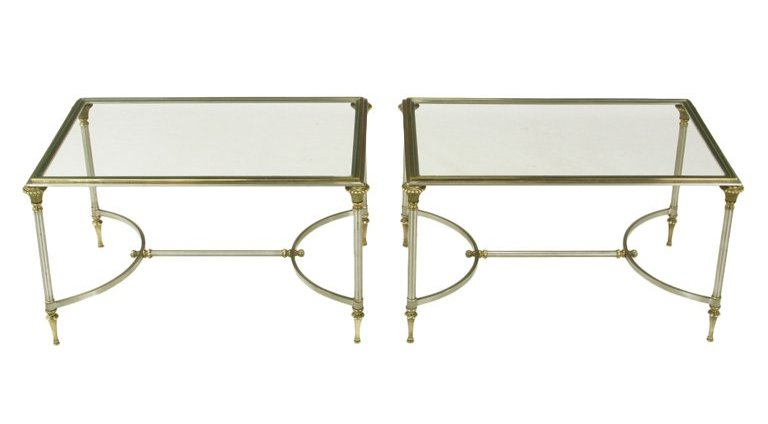 brushed nickel coffee table 23