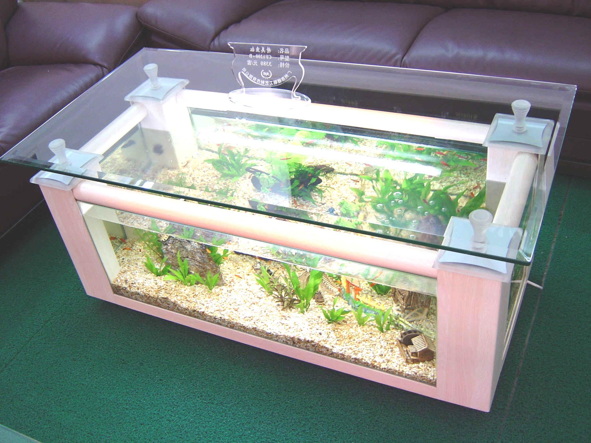 Coffee table aquarium for sale roy home design for Table aquarium