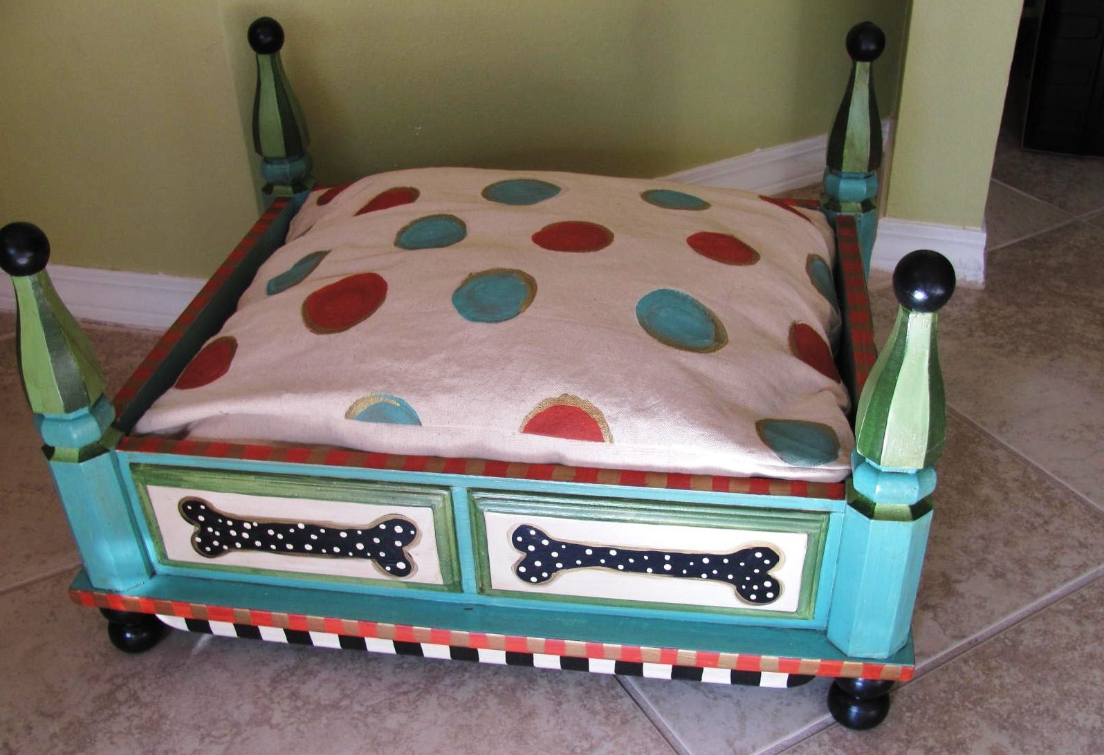 coffee table dog bed 23