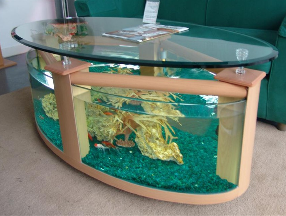 fish tank coffee table for sale 12
