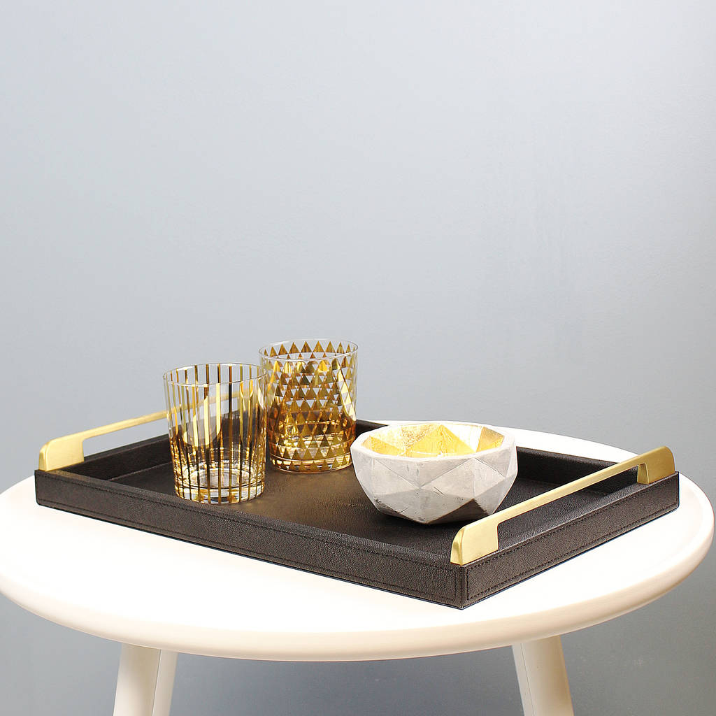 Gold Coffee Table Tray Decor Roy Home Design