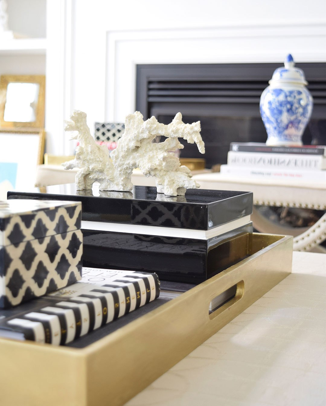 gold coffee table tray 12