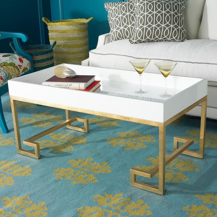 gold coffee table tray 20
