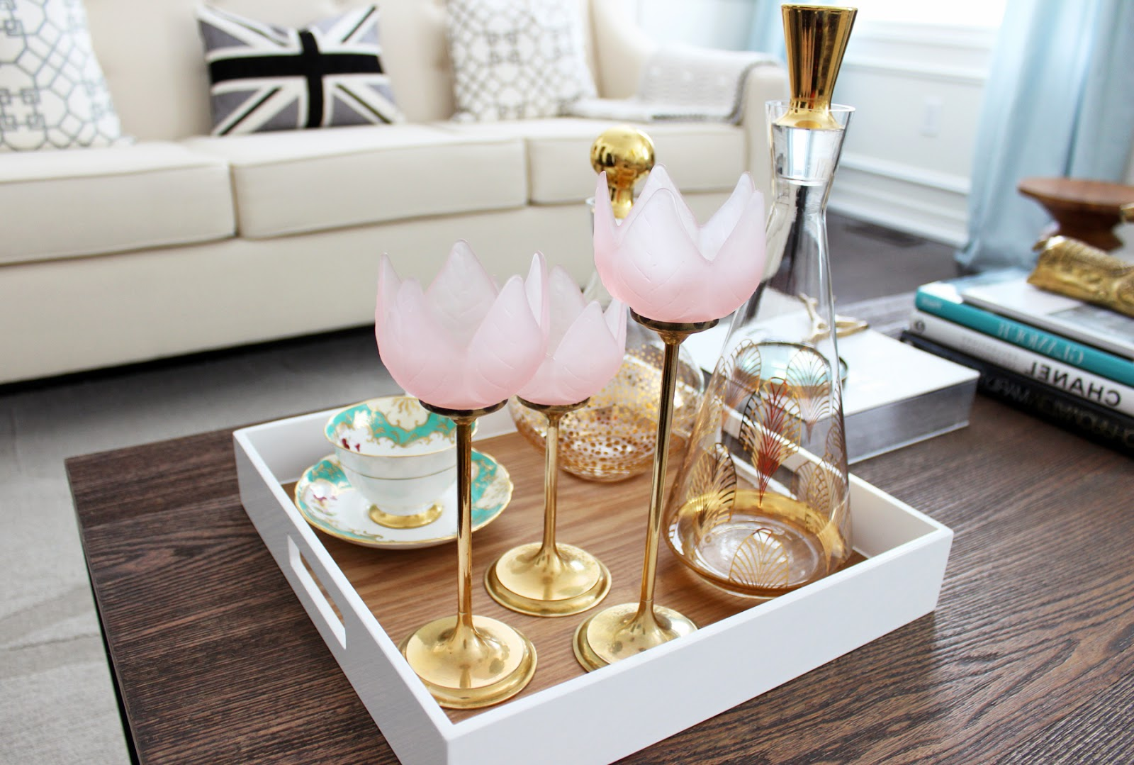 gold coffee table tray 24