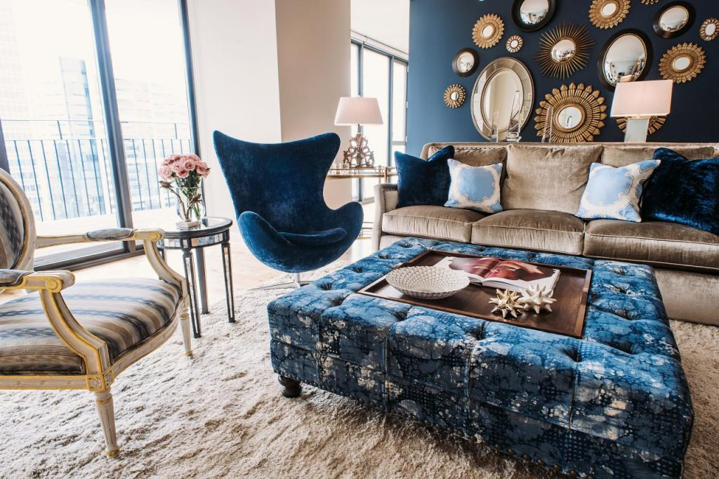 %name Navy Blue Coffee Table