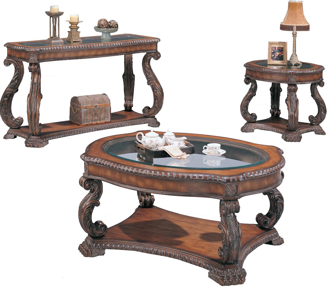 oval coffee table sets 02