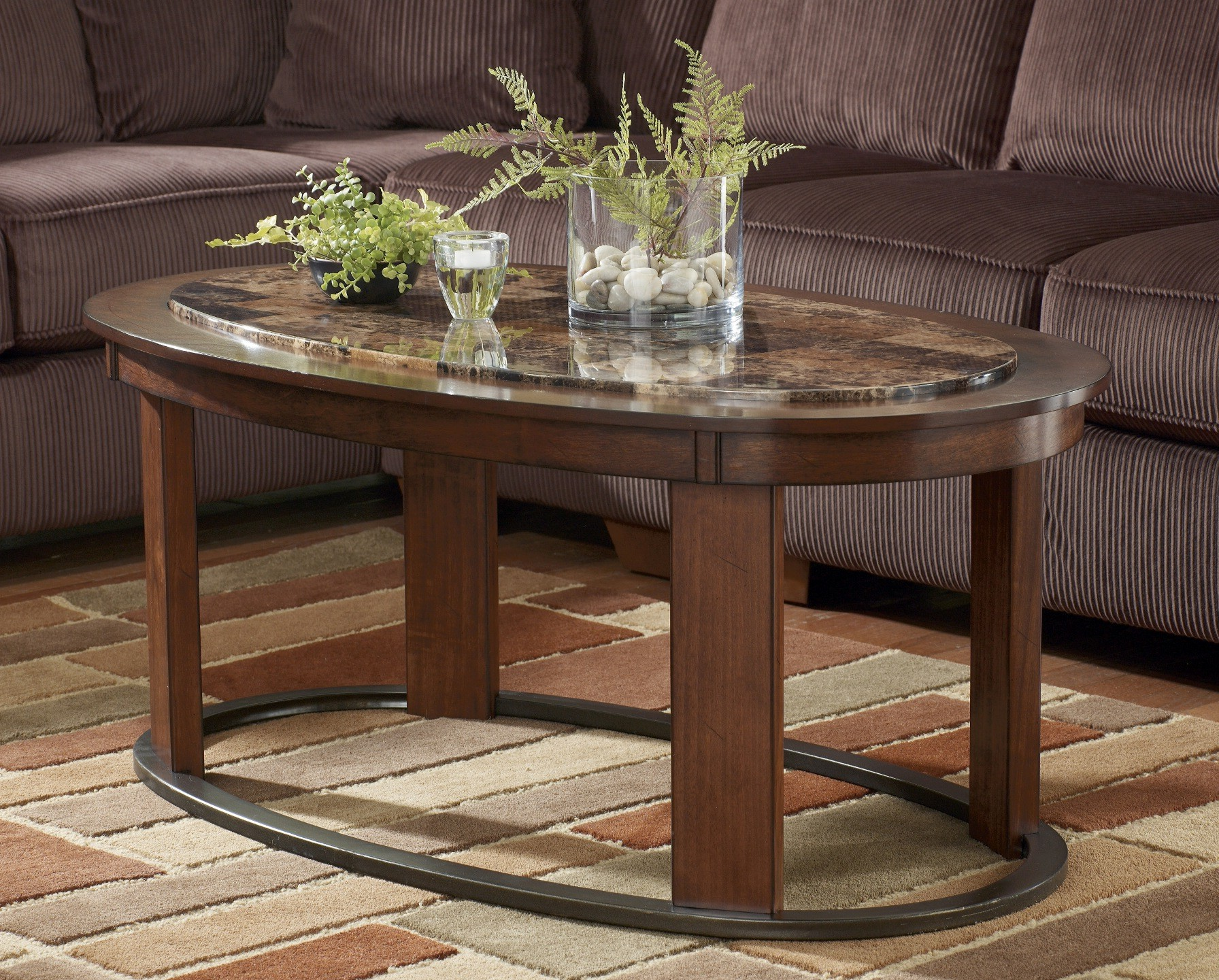 oval coffee table sets 11