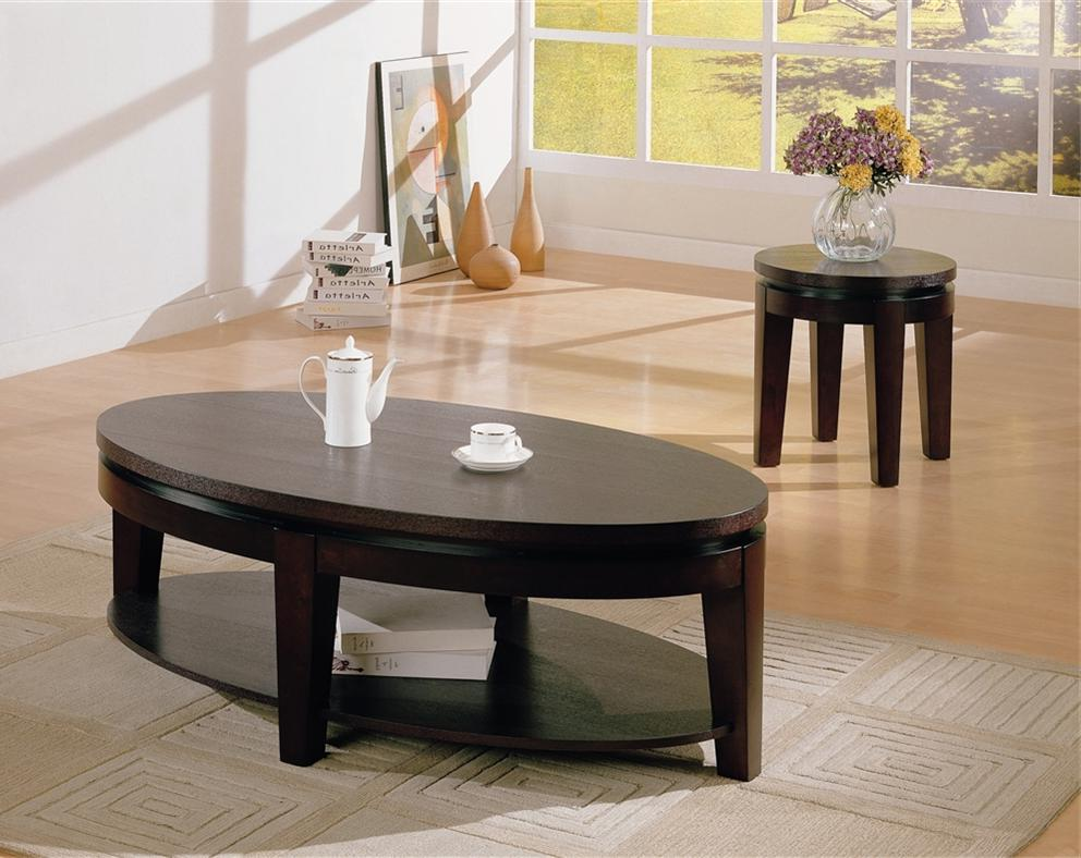 oval coffee table sets 18