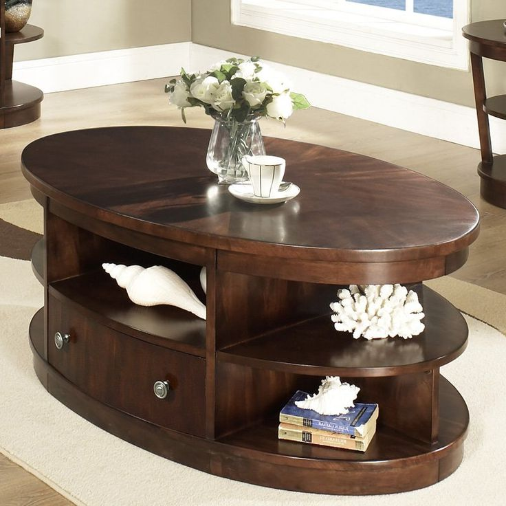 oval coffee table sets 25