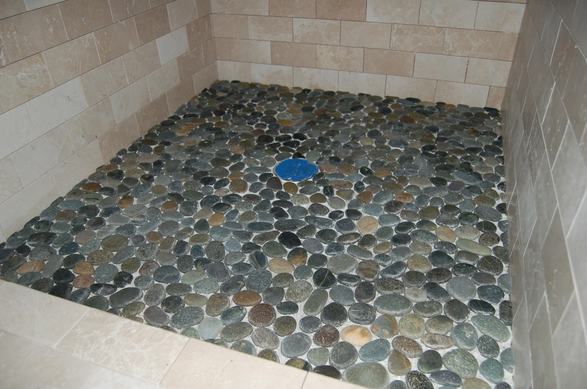 riverstone shower floor in mid century style roy home design. Black Bedroom Furniture Sets. Home Design Ideas