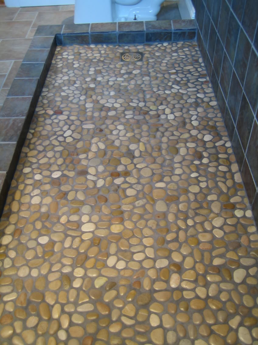 Riverstone Shower Floor In Mid Century Style Roy Home Design
