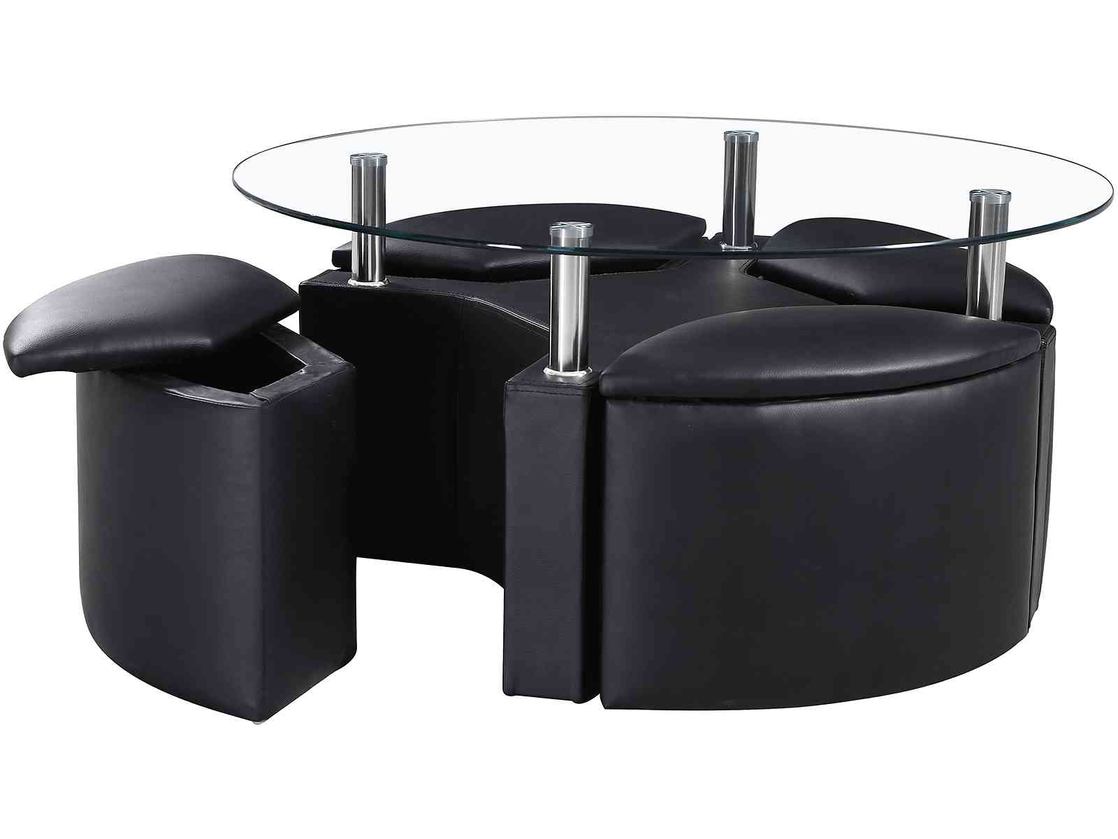 round coffee table with seats 01