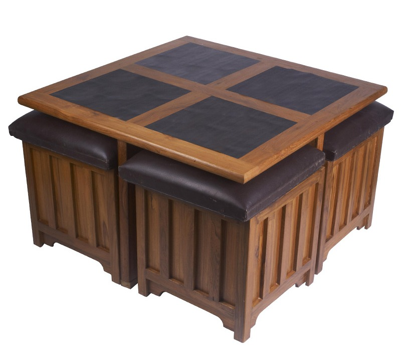 round coffee table with seats 03