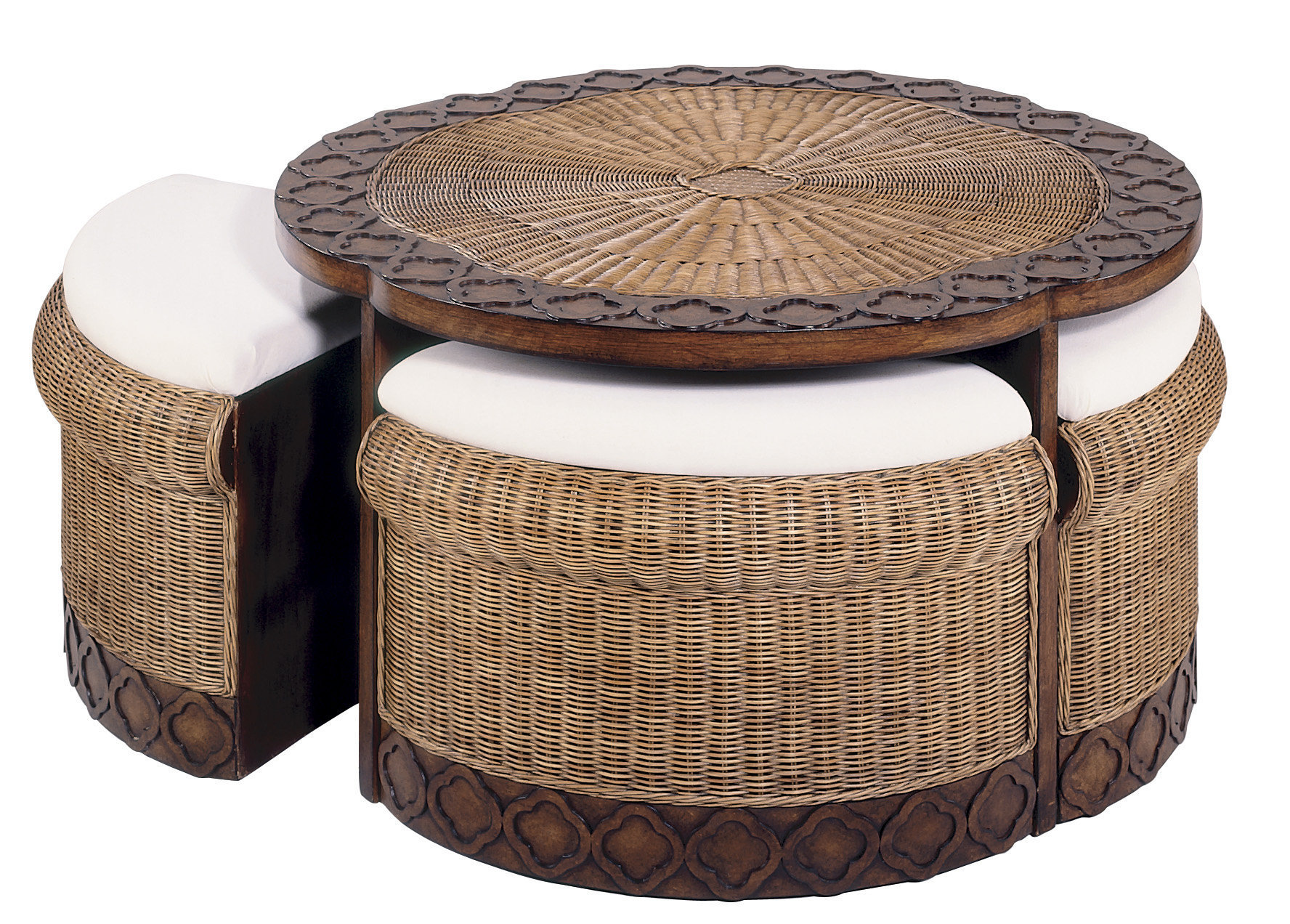 round coffee table with seats 09