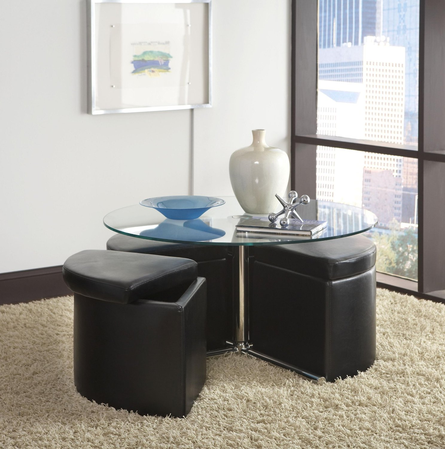 round coffee table with seats 12