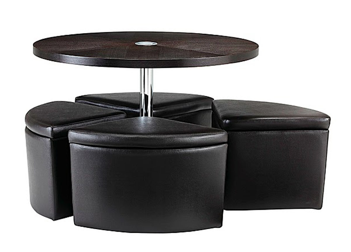Round Coffee Table With Seats Underneath Roy Home Design